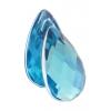 Acrylic 30x17mm Pear Shape Facetted Aqua